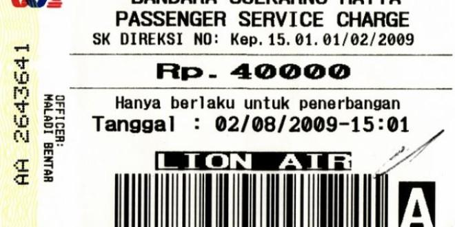 Passanger Service Charge (PSC) di Bandara Angkasa Pura II Naik